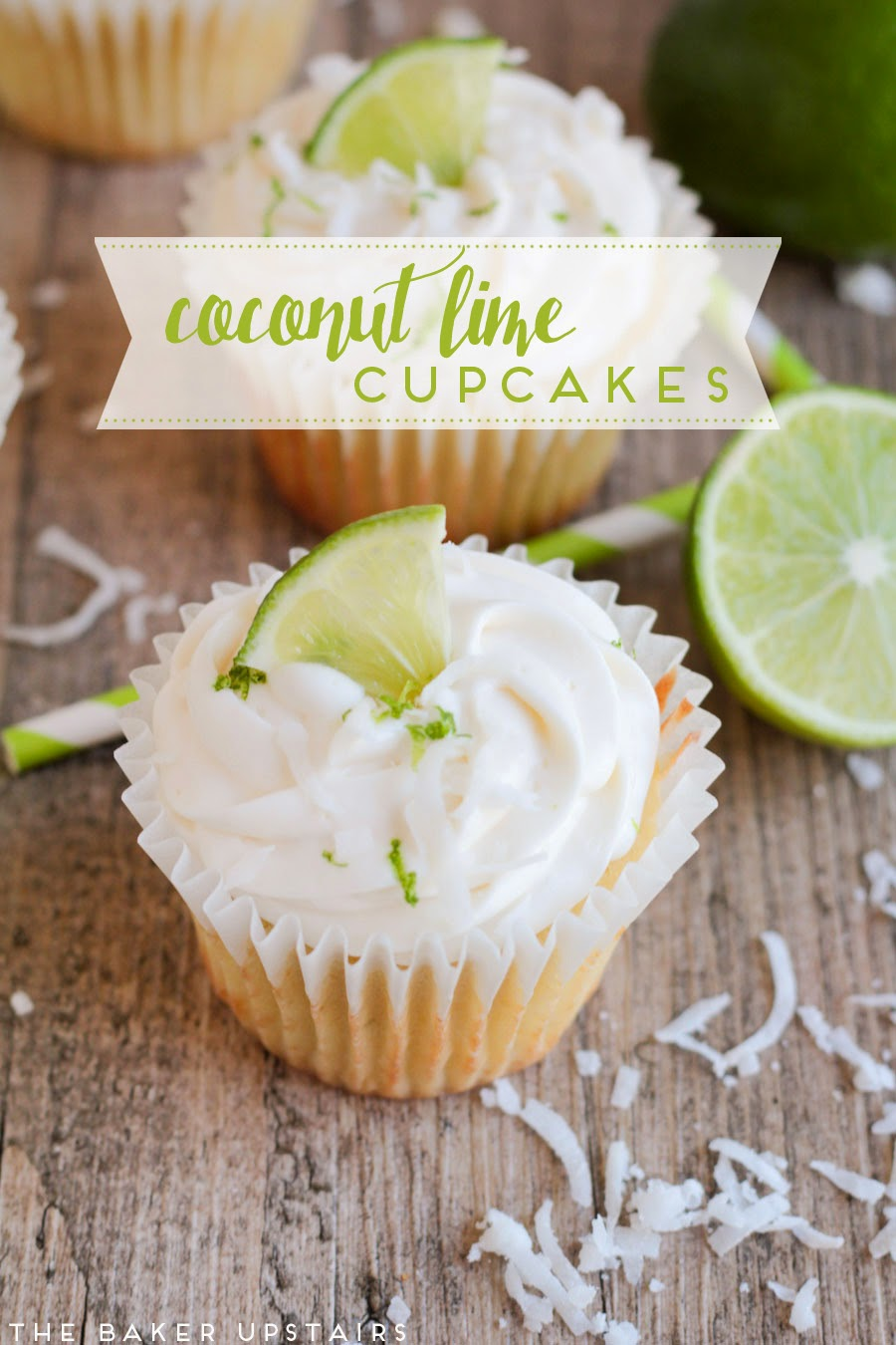 the baker upstairs: coconut lime cupcakes