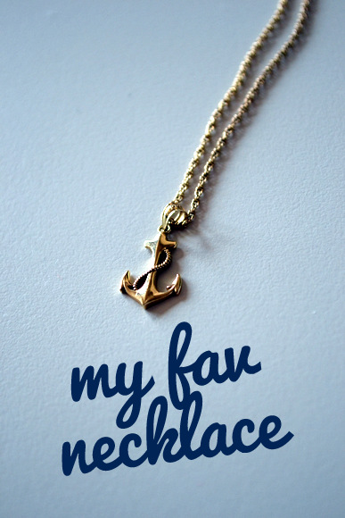 Favorite Necklace Text anchor gold necklace