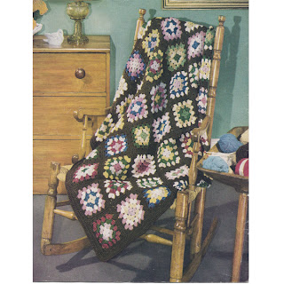 Colorful Granny Square Crochet Afghan Pattern