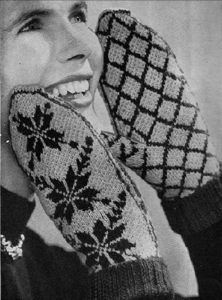 Free 1940's Knitting - Norwegian Mitts Pattern