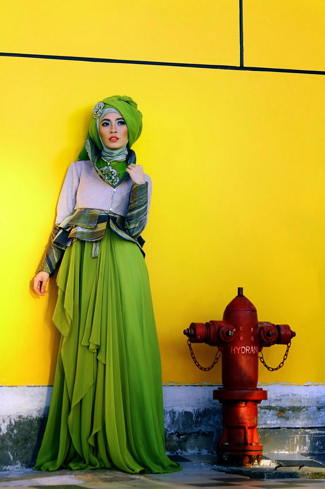 hijab in long dress