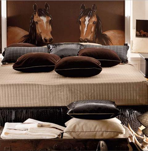 DORMITORIO CON CABALLOS RECAMARA CABALLOS via www.dormitorios.blogspot.com