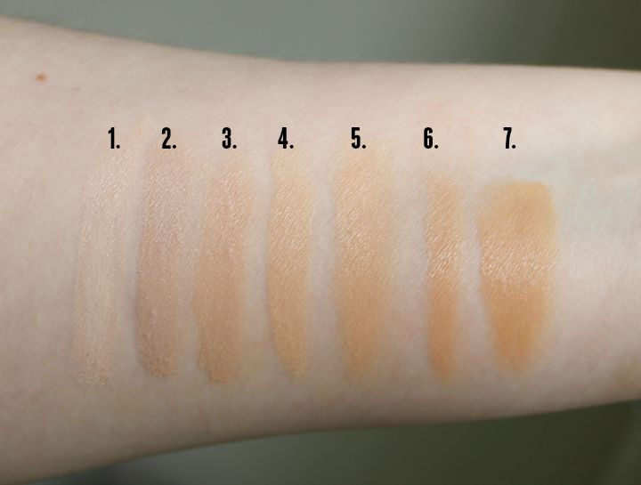 UNT Color Skincare Mineraluxe BB Cream BB05 Fair BB10 Natural Swatch Swatches comparison