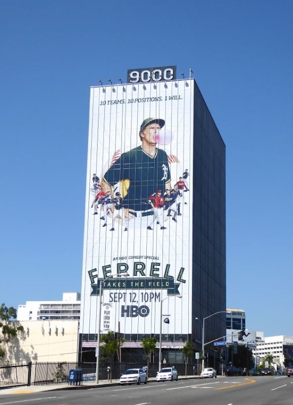 Giant Ferrell Takes the Field HBO comedy special billboard