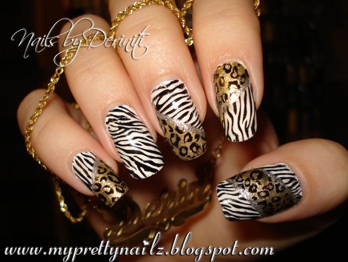 My Pretty Nailz Animal Print Nail Art Stamping Design And Video
