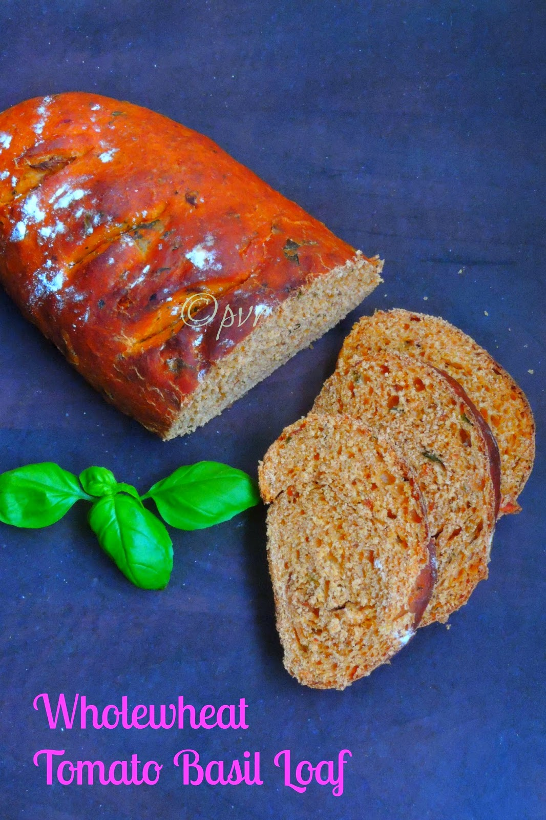 Tomato basil loaf, wholewheat Tomato Basil Loaf