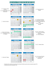 Calendario Escolar 2019-20                                                       MÁLAGA