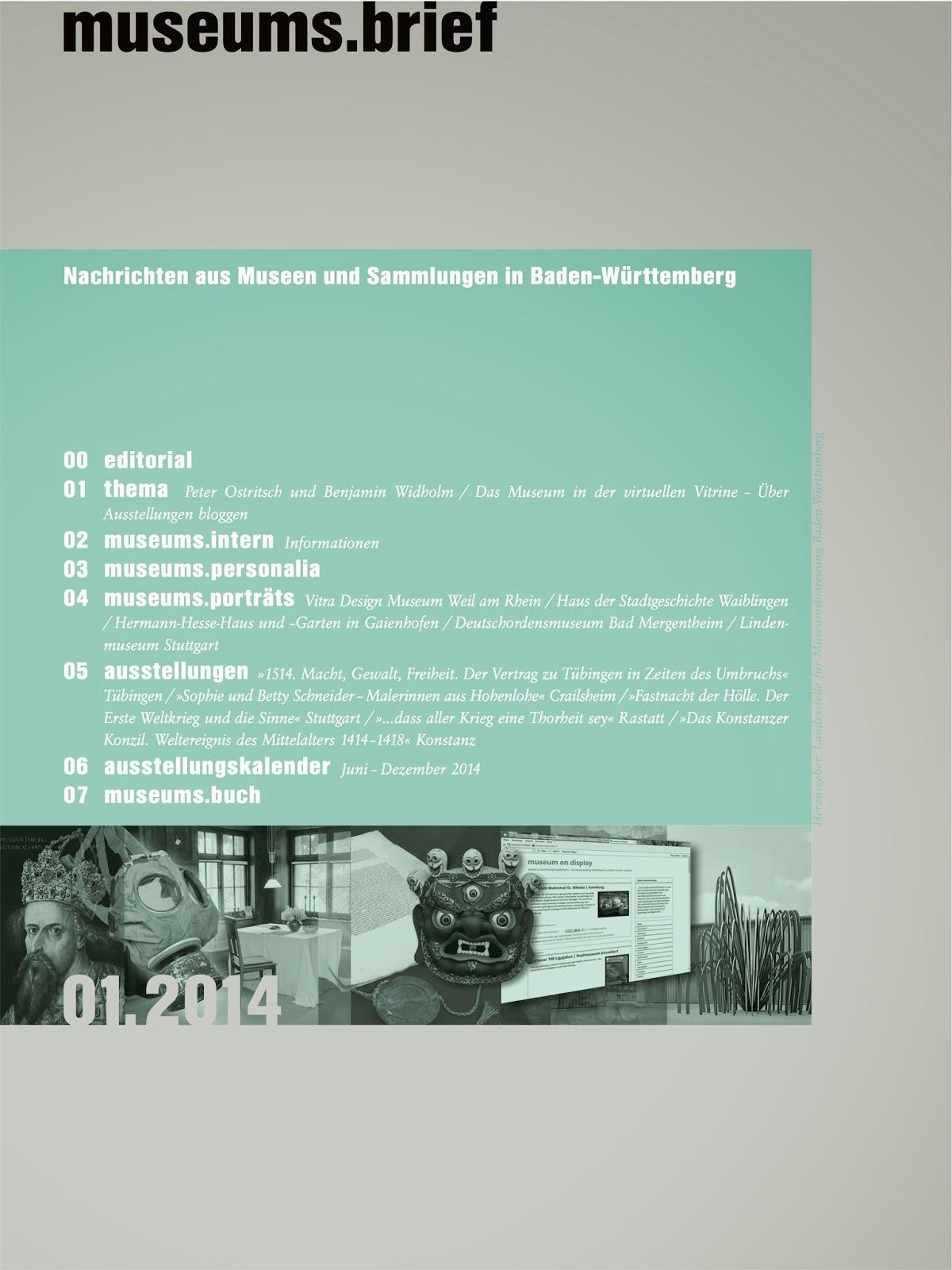 museums.brief, Zeitschrift, Artikel, bloggen, Museumsblog, Benjamin Widholm, Peter Ostritsch