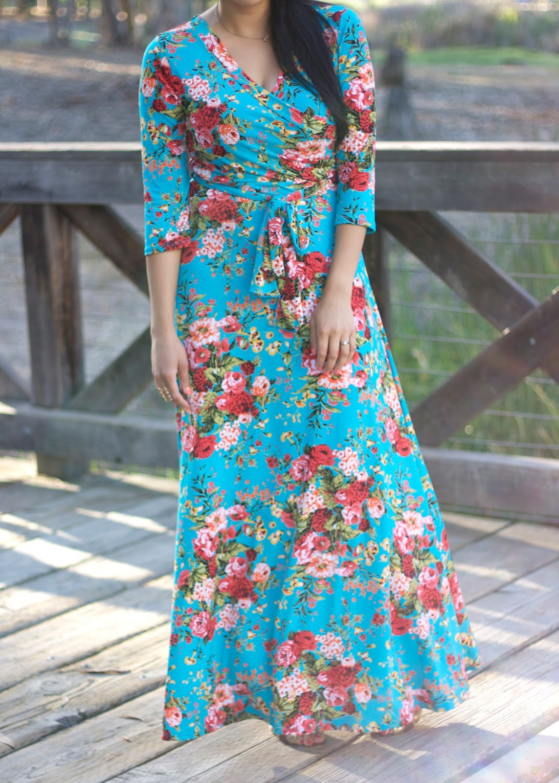 Floral and flattering maxi lil bits of chic by paulina mo san maternity clothes maternity dresses maternity maxi dress cute maternity clothes maternity clothing ombrellifo Images