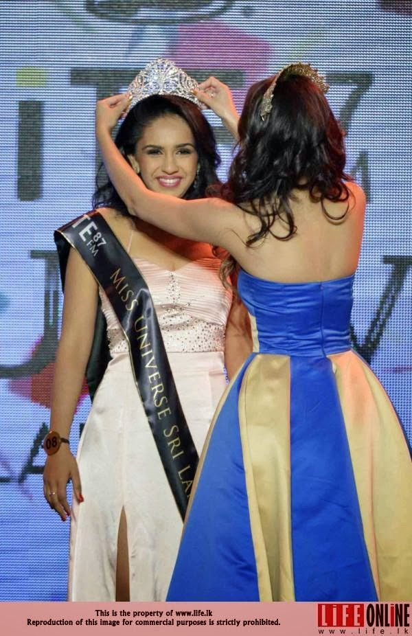 Miss Universe Sri Lanka 2013 winner Amanda Marietta Rathnayake Ratnayake