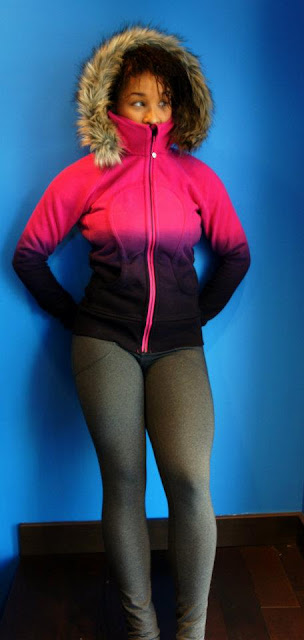 lululemon will pant and paris pink scuba hoodie