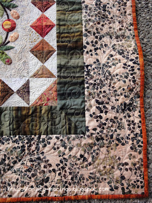 The Bunny Quilt, corner border detail