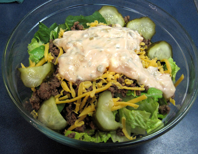 low carb cheeseburger salad