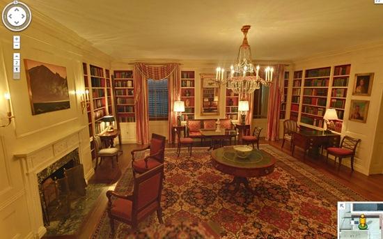 la bibliothèque de la maison blanche