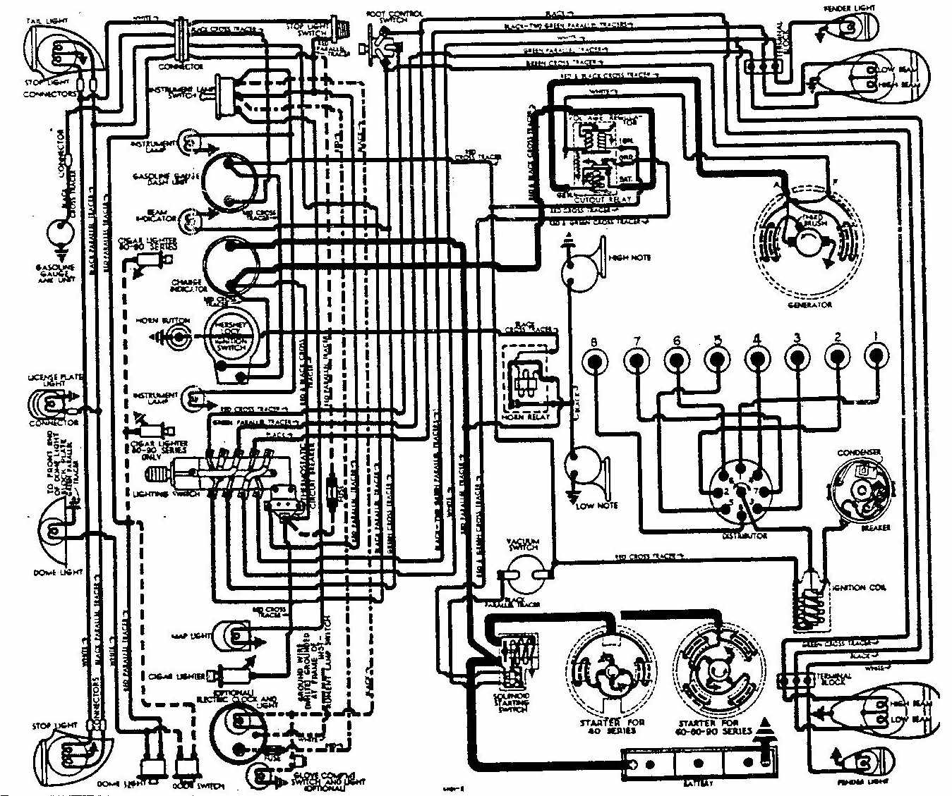 Buick+Roadmaster+1938+Electrical+Wiring+Diagram ford 7710 tractor wiring diagram ford discover your wiring Ford Tractor Wiring Harness Diagram at creativeand.co