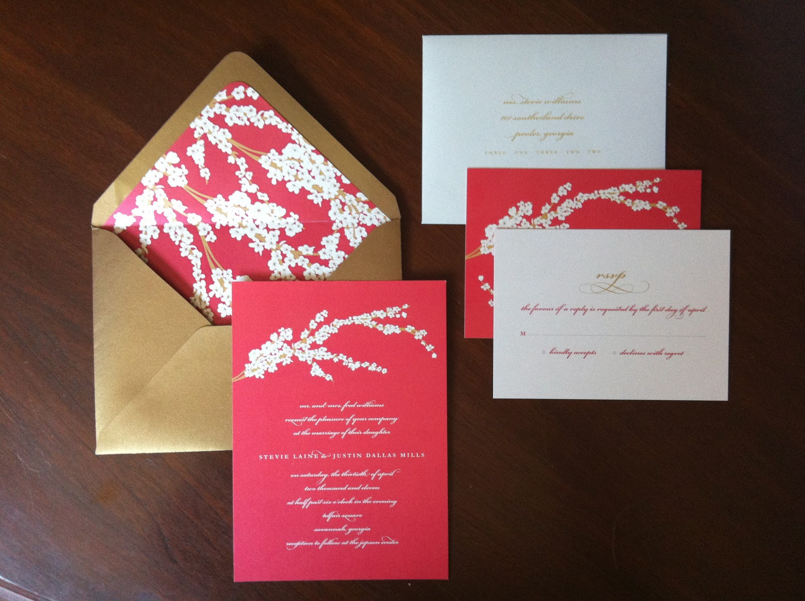 Dogwood Blossom Wedding Invitations { Savannah, GA } | Emily McCarthy