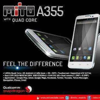Mito A355 Quadcore Android Murah