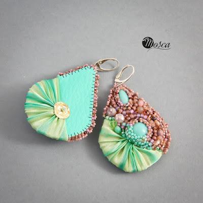 biżuteria z jedwabiem shibori