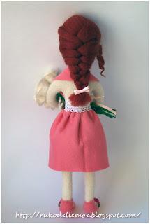 игрушки из шерсти, кукла - учительница