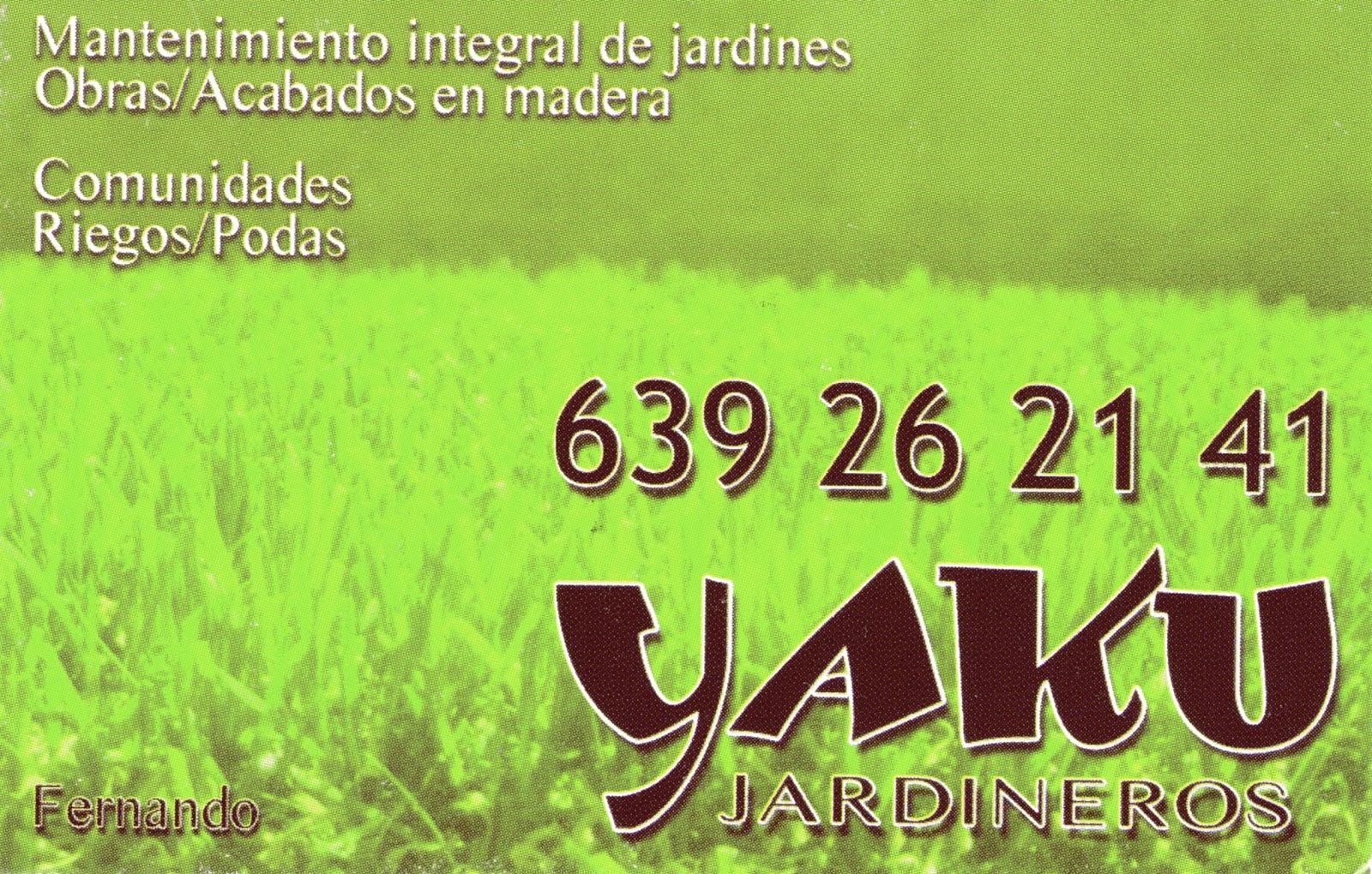 Yaku mantenimiento de jardines