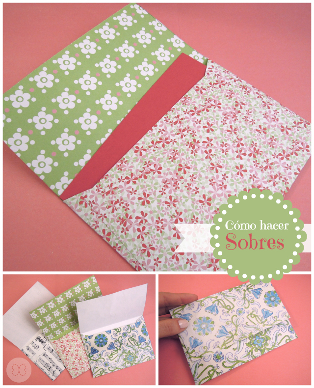 Pega papel o tijeras tutorial c mo hacer sobres for Como hacer un sobre rectangular