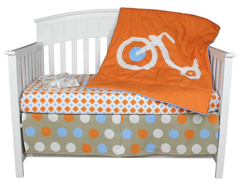blue and orange nursery crib sets bedding for baby girls and boys. Black Bedroom Furniture Sets. Home Design Ideas