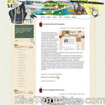 Vietnam Beyond the Backpack blogger template