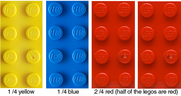After doing Lego Geometry with kids, I thought why not fractions? Make ...