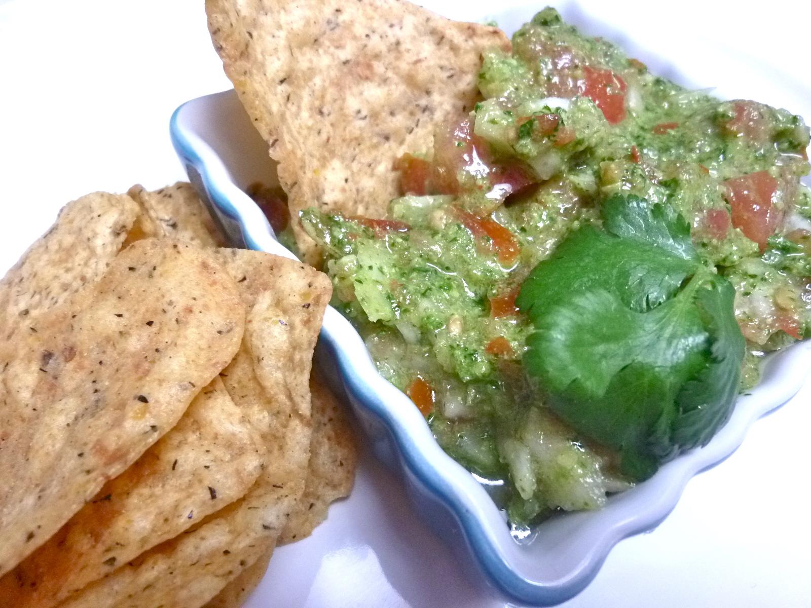 Tequila Cilantro Pepita Pesto Salsa for Cinco de Mayo