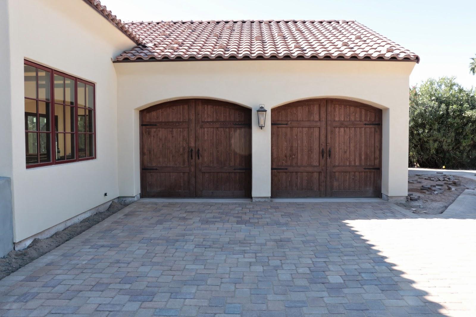 garage door hardware, Home Depot garage door hardware, cedar garage doors, brick red casement windows