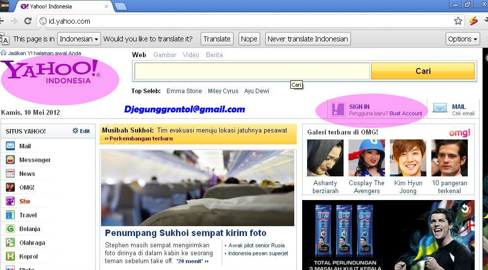 Kenali si maya: Cara Membuat Email yahoo.com