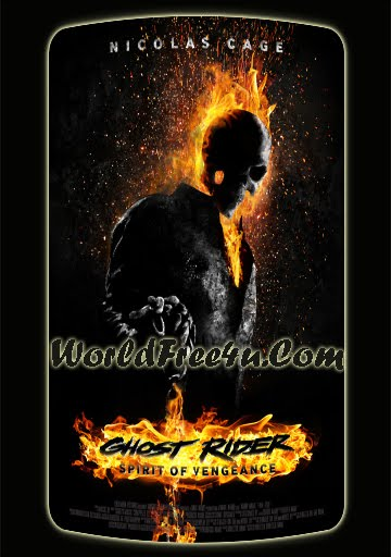 Poster Of Ghost Rider 2 (2012) Full English Movie Watch Online Free Download At worldfree4u.com