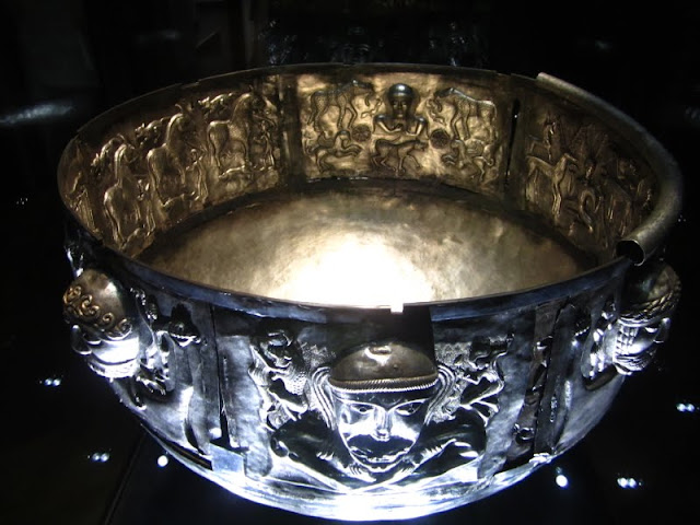 Gundestrup Cauldron in National Museet in Copenhagen, Denmark.