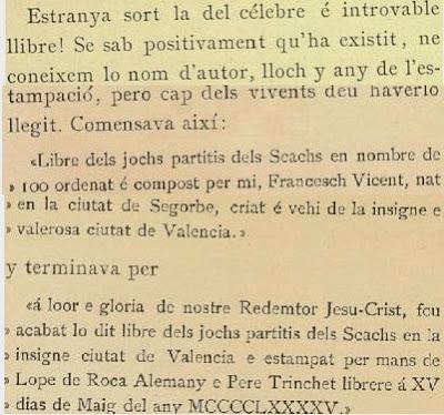 Libro de Pin i Soler sobre problemas de ajedrez, páginas 27 y 28