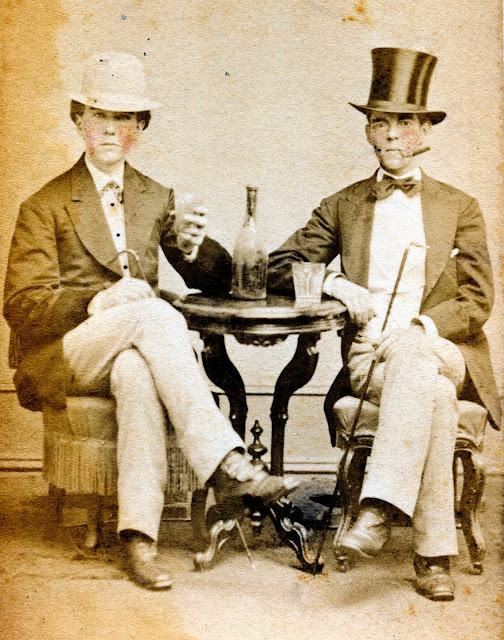 Bibition, Drinking, Drunk, Alcohol, Gentlemen, Vintage, Victorian