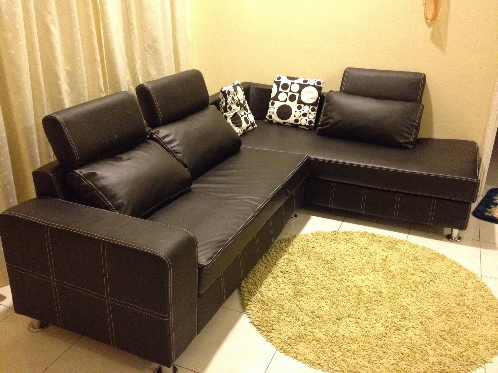 used l shape leather sofa for sale sold out april 2012