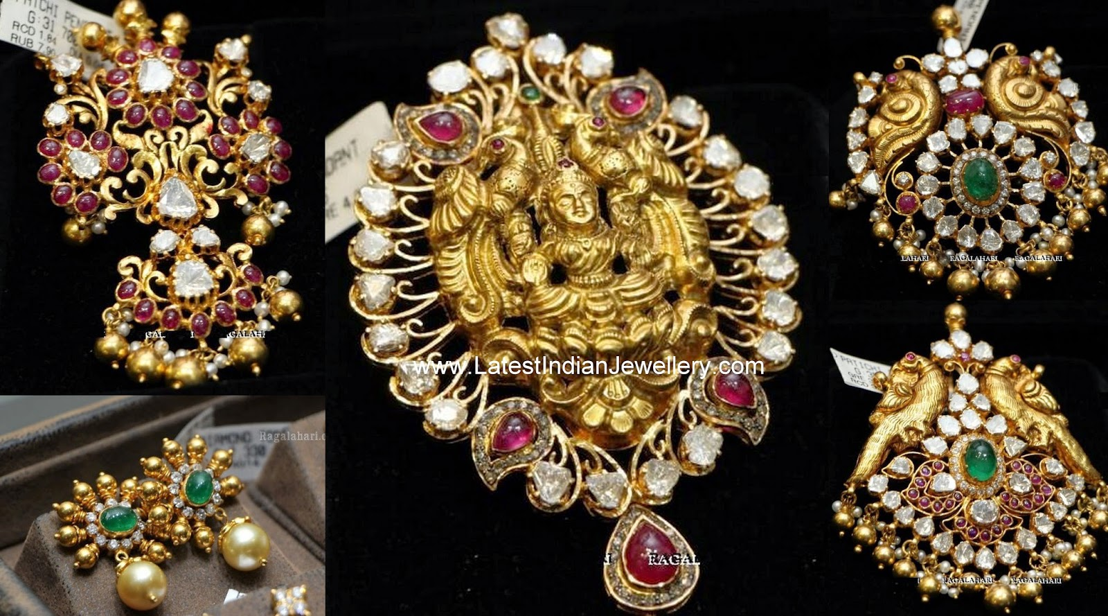 Antique Gold Pachi Pendant Designs