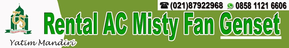 Rental AC Misty Fan Cooling Fan Genset   0858 1121 6606