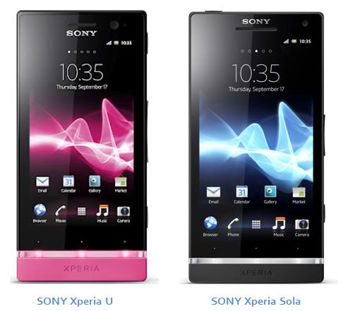 Sony Xperia Sola vs Xperia U