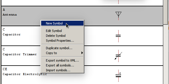 TinyCad add new symbol to library