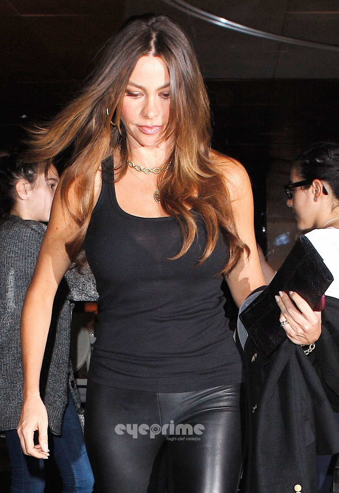 quotsofia vergaraquot in leather pants and see thru shirt