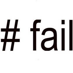 Aumenta o número de reclamações por Twitter com a hashtag #FAIL (falha em inglês).