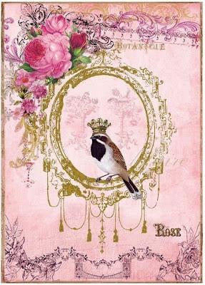 imagem vintage de passararinhos para decoupagem