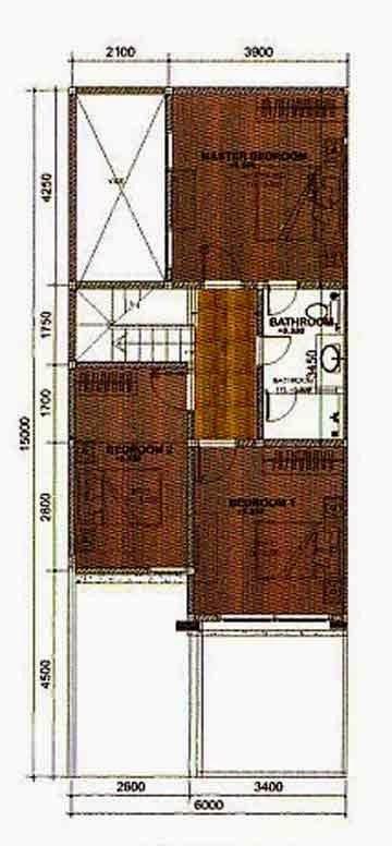 desain rumah 2 lantai type 140-90