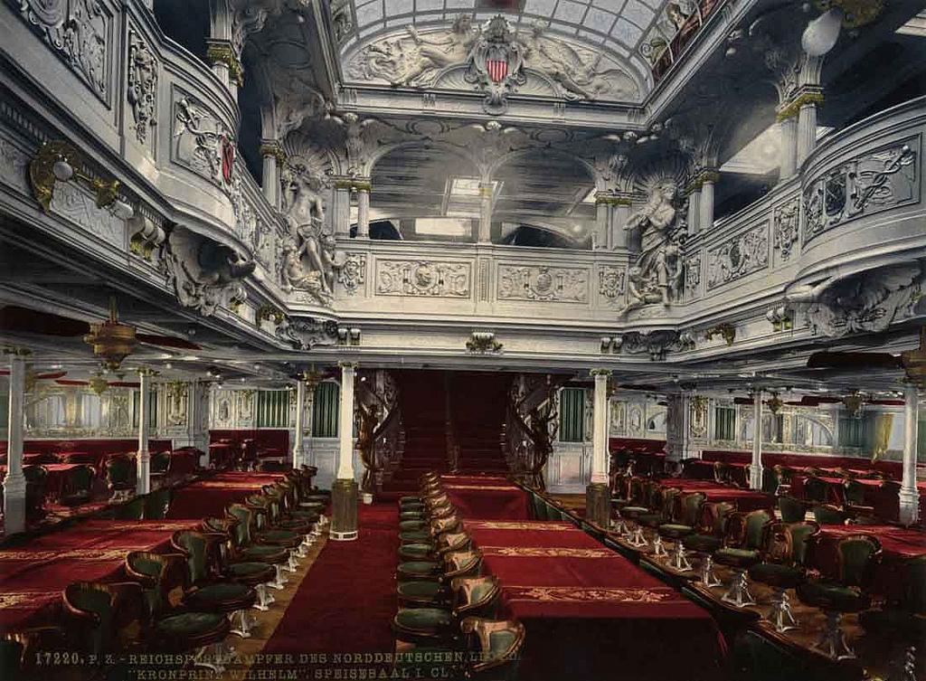 Era de ouro dos navios top 10 de melhores interiores de navio for O que significa dining room em portugues