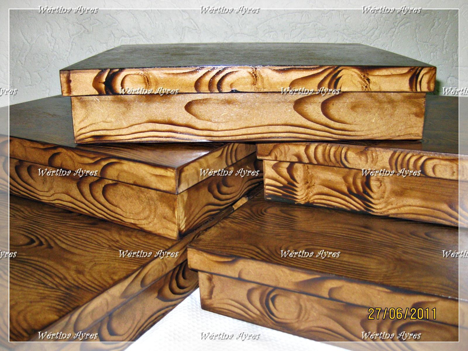 de Luxo: Caixa Retangular com divisórias Imitação de madeira  #9F722C 1600x1200