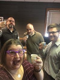 Kombucha taste testing with my guys at work 2019