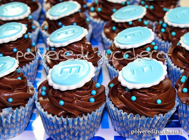 cupcake chocolate cupcake cioccolato cresima polvere di zucchero