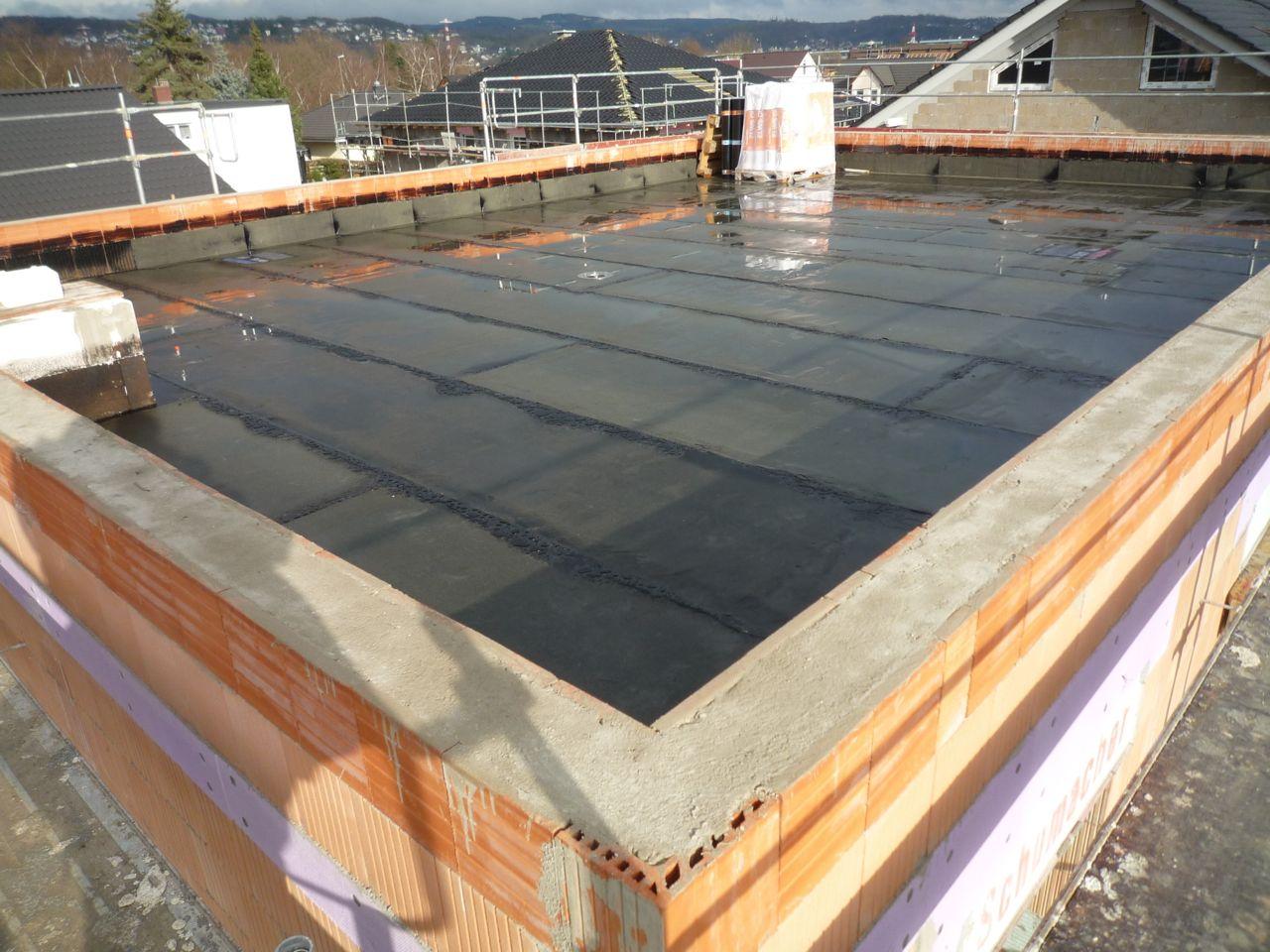 wir bauen in remagen flachdach ringbalken dampfsperre
