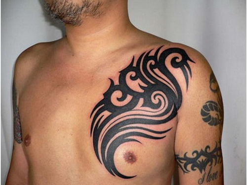 body tattoo design chest tattoo ideas for men. Black Bedroom Furniture Sets. Home Design Ideas